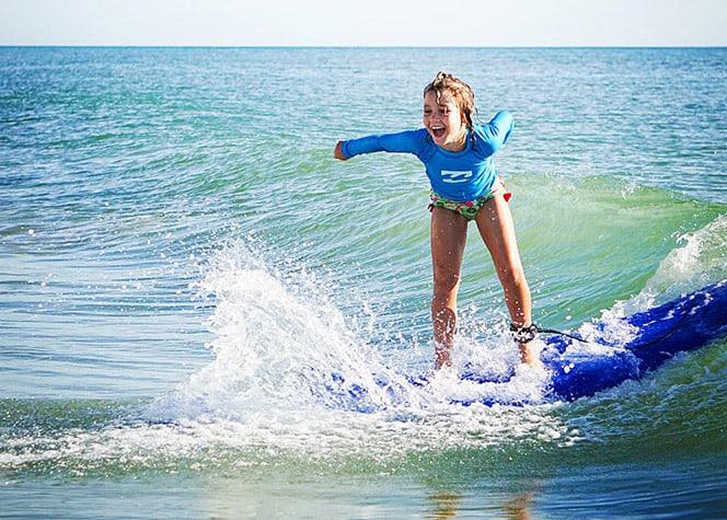 Surfing Florida Kids