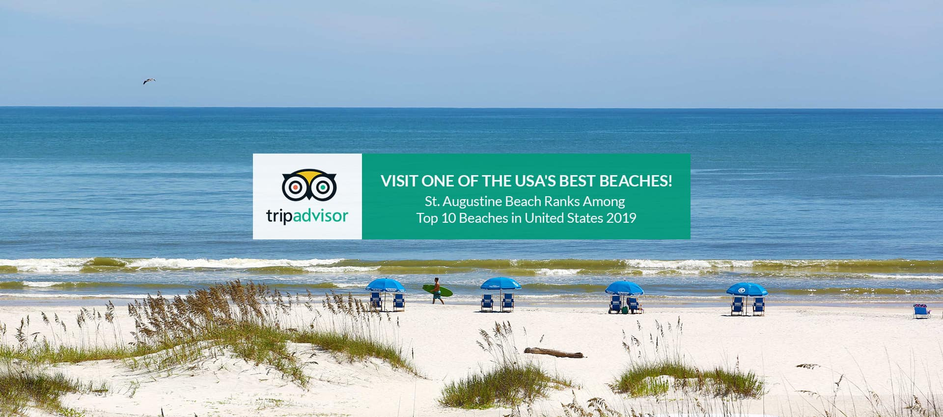 Visit one of the USA's best beaches. St. Augustine Beach ranks among top 10 Beach in the US